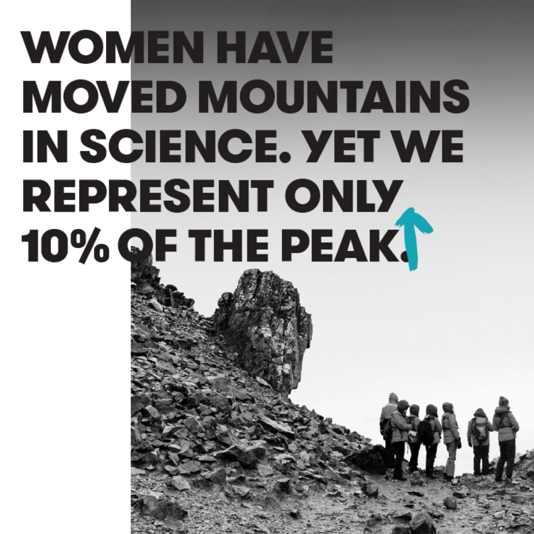 Women have moved mountains in science, yet represent only 10% of the peak - Homeward Bound - Gender Fact Sheet